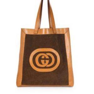 Gucci Ophidia Suede Large Tote In Brown NWOT